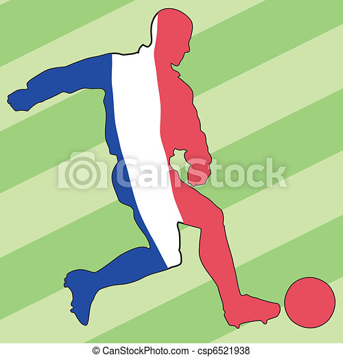 football colors of France - csp6521938