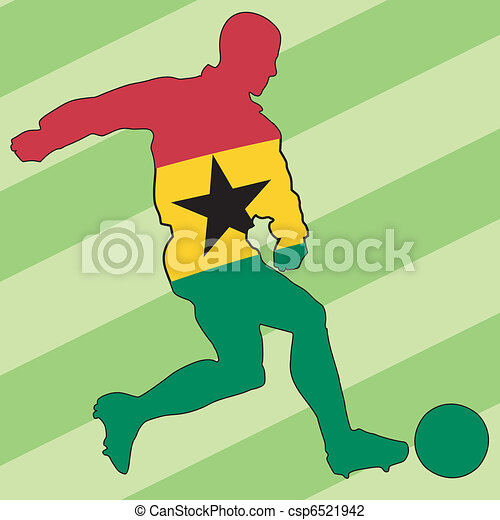 football colors of Ghana - csp6521942