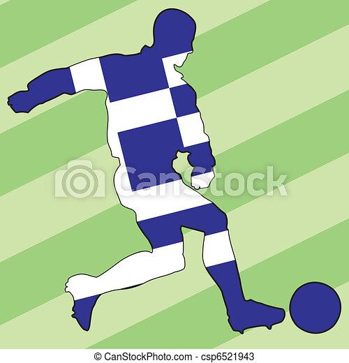 football colors of Greece - csp6521943