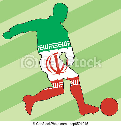 football colors of Iran - csp6521945