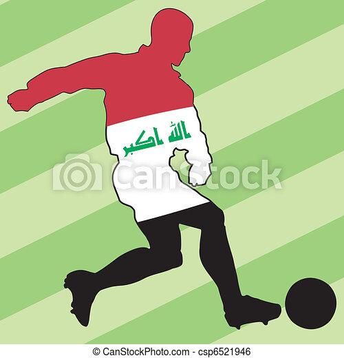 football colors of Iraq - csp6521946