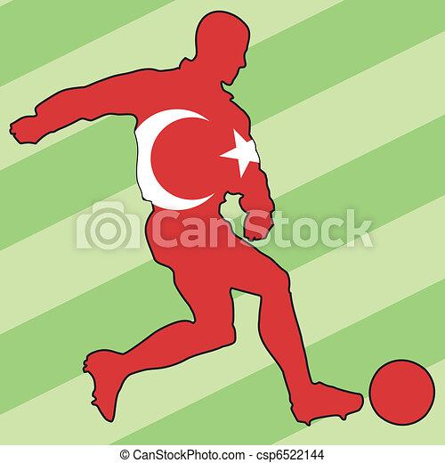 football colors of Turkey - csp6522144