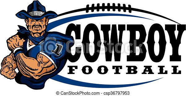 football, cow-boy - csp36797953