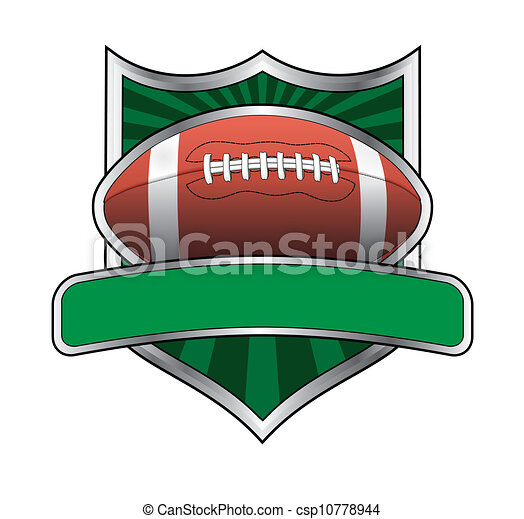 Football Design Shield Emblem - csp10778944