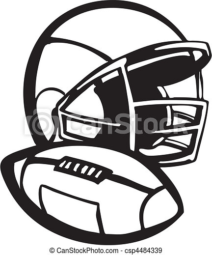 Football Helmet Vector Illustration Vector Clipart Illustrations