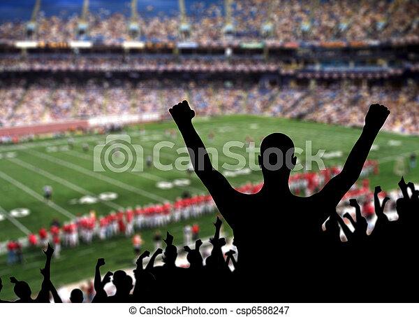 Football Fan Celebration - csp6588247