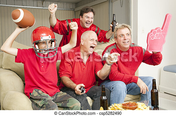 Football Fans - Touch Down - csp5282490