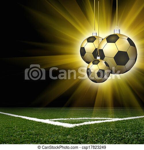 Football Feld Fussball Weihnachten Frohlich