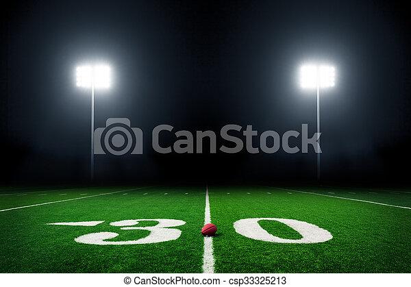 Football field - csp33325213