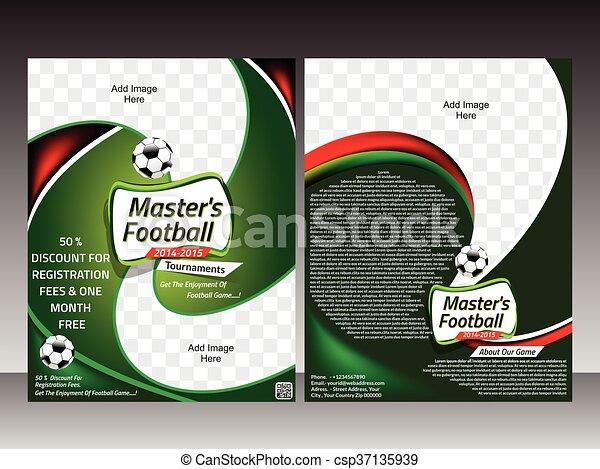 Football flyer template design template vector illustration.