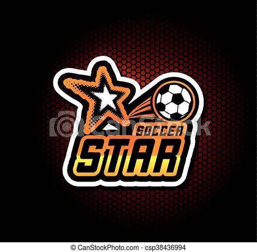football, gabarit, logo, football, écusson, design. - csp38436994