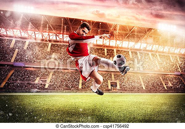 Football game at the stadium - csp41756492