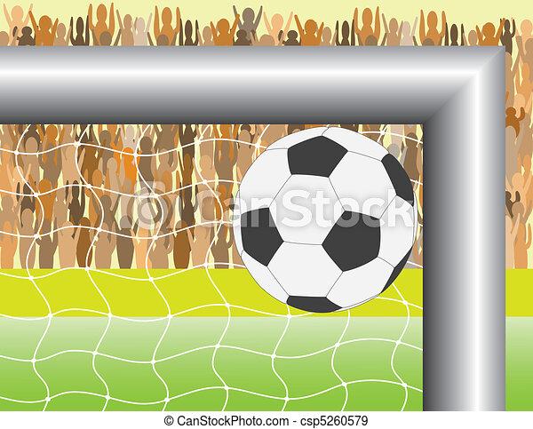football goal - csp5260579
