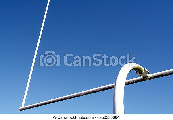 Football goal post - csp0356664