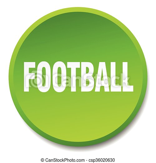 football green round flat isolated push button - csp36020630
