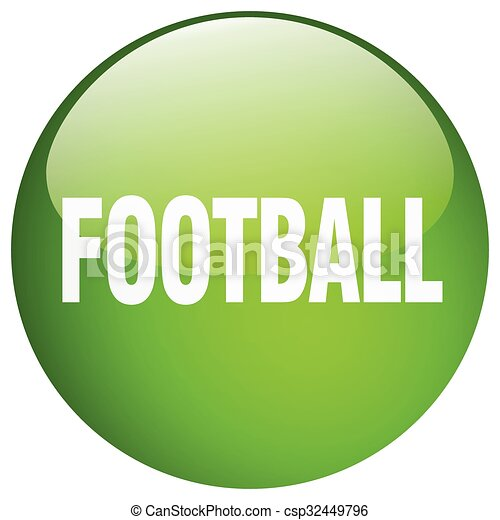 football green round gel isolated push button - csp32449796