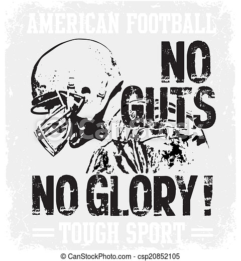 football guts american football vector illustration for vector rh canstockphoto com american football vector art american football vector black and white