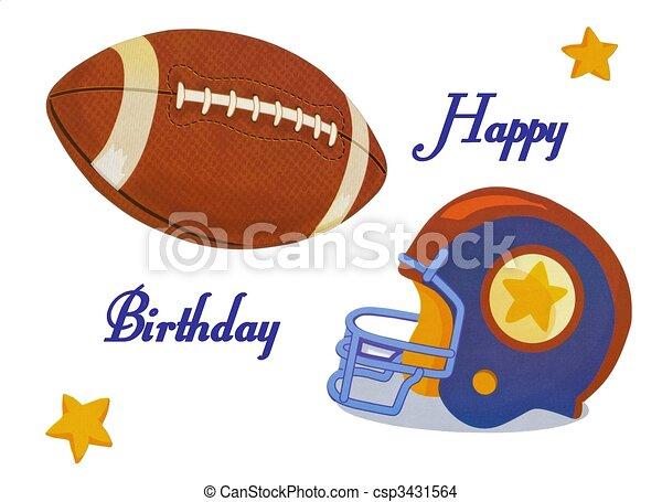 Football happy birthday card beautiful football happy drawing football happy birthday card csp3431564 bookmarktalkfo Gallery