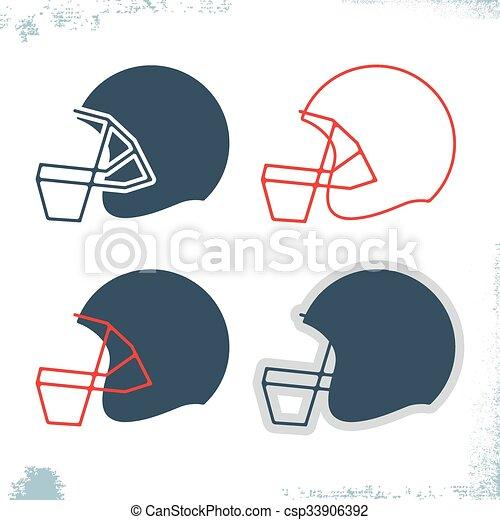 american football helmet icon template set design sport eps