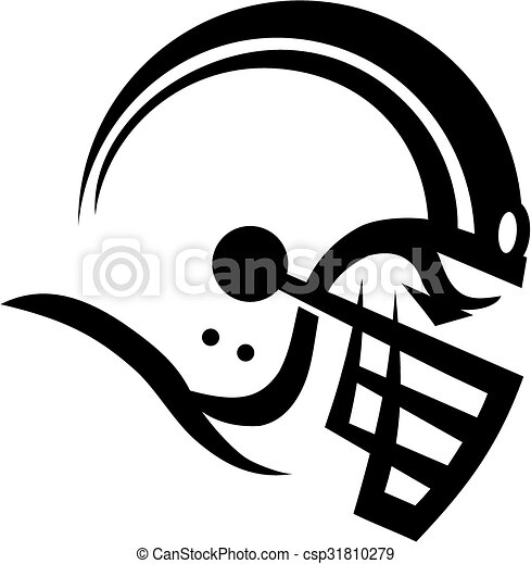 stylized football helmet with face mask vectors illustration rh canstockphoto ie footprint vector art footprint vector art
