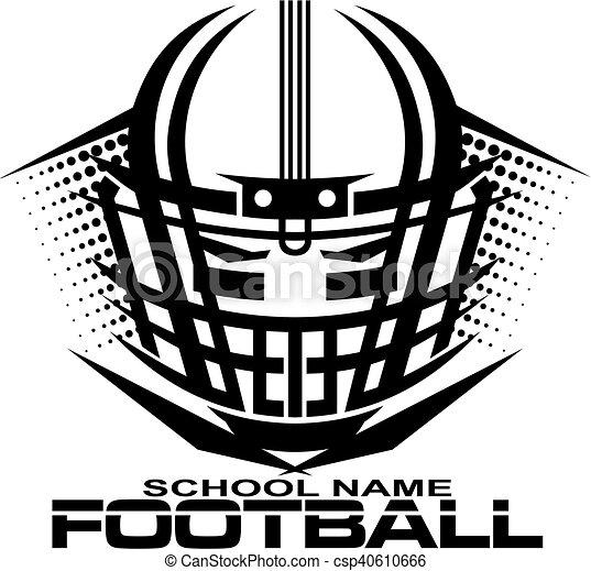 Football helmet with facemask. Tribal football team design ...