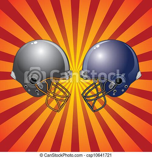 Football Helmets Colliding - csp10641721