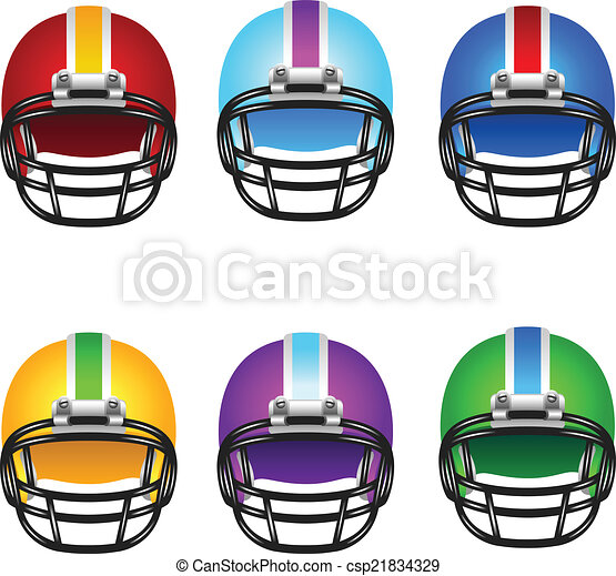Football helmets - csp21834329