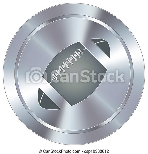 Football icon on industrial button - csp10388612