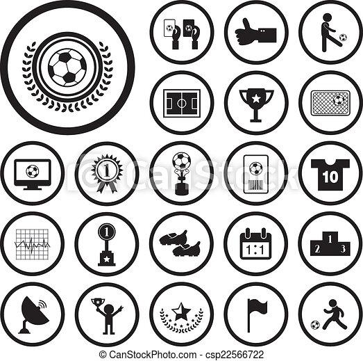 Football Icon Set Champion Football Match Vector Icon Set