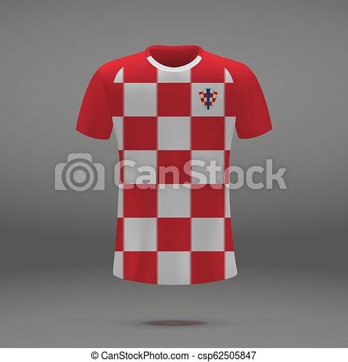 4f75b6762 football kit of Croatia - csp62505847