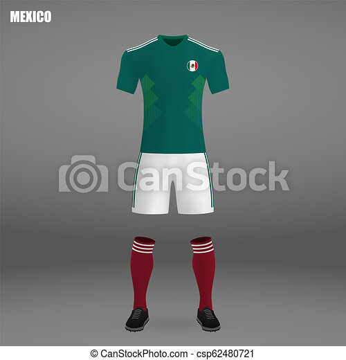 e70f046d29b Football kit of mexico 2018, t-shirt template for soccer jersey ...