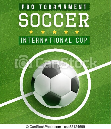 Football Match Poster Template With Soccer Ball Soccer Ball Eps
