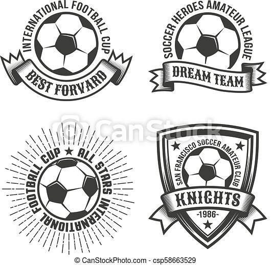 Football Old School Logos Football Old School Logo Template With
