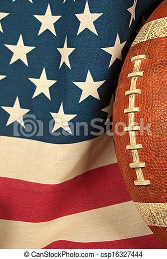 football on an American flag - csp16327444