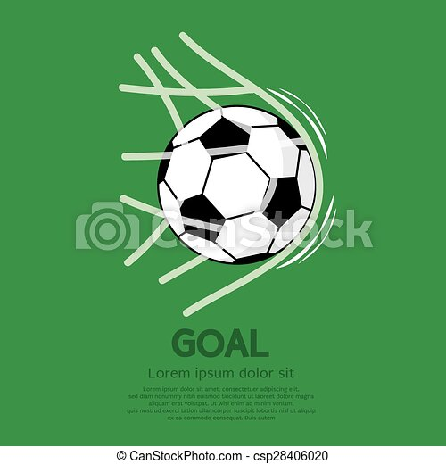 Football or Soccer Ball In Net. - csp28406020