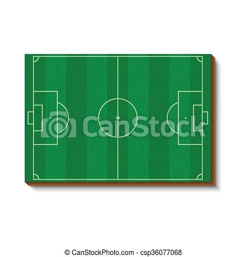 Football Or Soccer Field Icon Cartoon Style Football Or Soccer