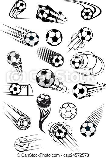 Football or soccer motion balls set - csp24572573
