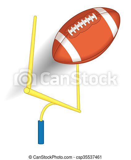 football over the goal post - csp35537461