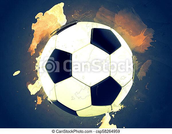 Football - paint splashes background - csp58264959