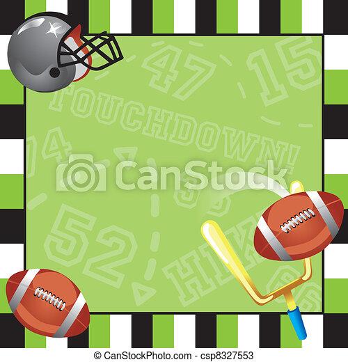 Football Party Invitation card - csp8327553