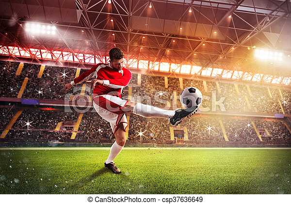Football player at the stadium - csp37636649