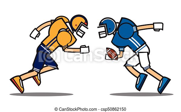 football player cartoon character rugby american football rh canstockphoto com cartoon soccer player clipart