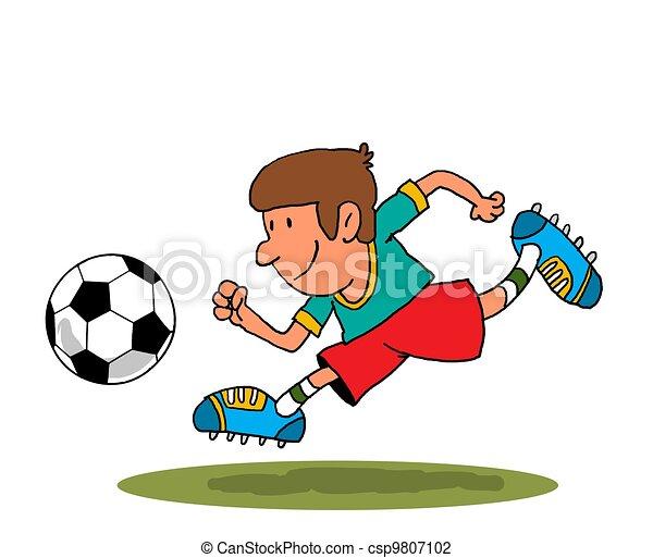 football player football the little boy runs on the field clip rh canstockphoto com