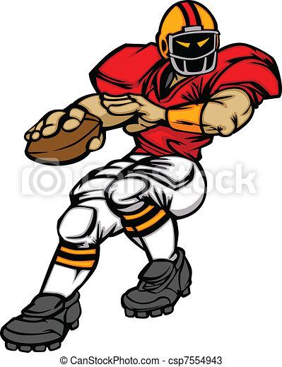 Football Player Quarterback Vector  - csp7554943