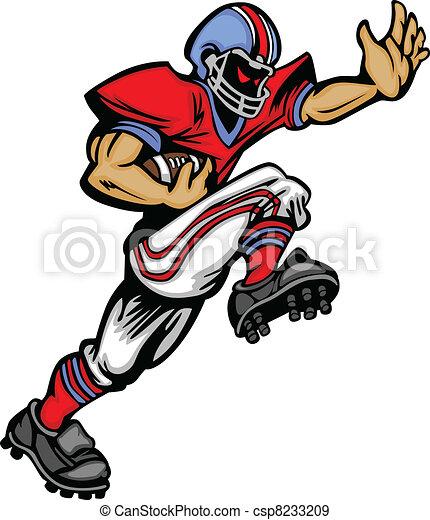 Football Player Runningback Vector  - csp8233209