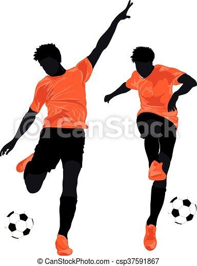 Football players - csp37591867
