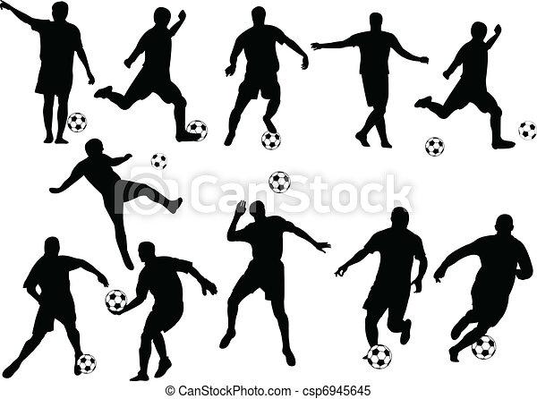 Football players - csp6945645
