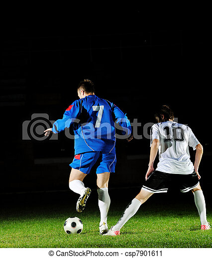 football players in action for the ball - csp7901611