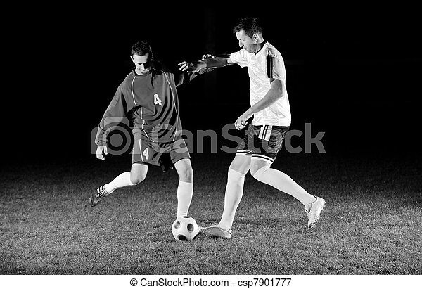 football players in action for the ball - csp7901777