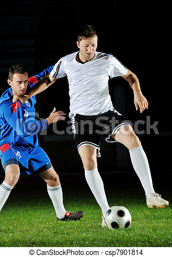 football players in action for the ball - csp7901814
